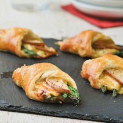 Puff Pastry with Asparagus and Pear