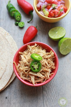 Pulled Crock Pot Chicken for Tacos