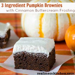 Pumpkin Brownies with Cinnamon Buttercream Frosting Recipe