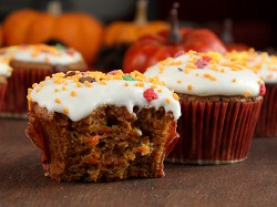Pumpkin Carrot Cupcakes with Cream Cheese Frosting Recipe