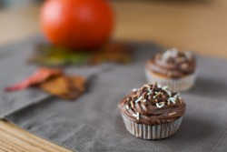 Pumpkin Cupcakes with Chocolate