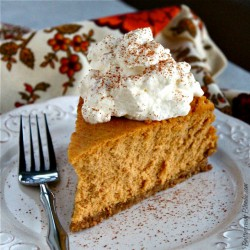Pumpkin Goat Cheese Pretzel Cheesecake Recipe