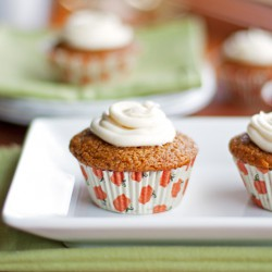 Pumpkin Muffins with Cream Cheese Frosting Recipe
