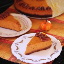 Pumpkin Pecan Cheesecake with Cookie Butter Crust Recipe