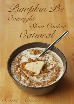 Pumpkin Pie Slow-Cooker Overnight Steel-cut Oatmeal Recipe