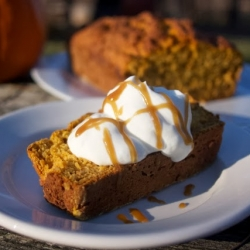 Pumpkin Yogurt Loaf with Maple Caramel Recipe