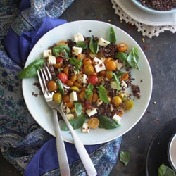Quinoa and Garden Caprese Salad Recipe