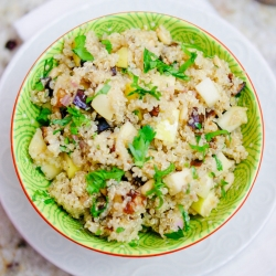 Quinoa Roasted Eggplant Salad Recipe