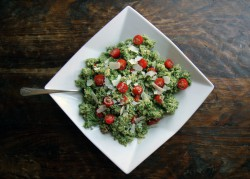 Quinoa Salad with Arugula Pesto