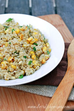 Quinoa with Roasted Corn and Scallions Recipe