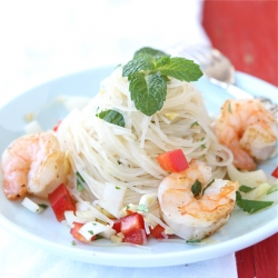 Rice Noodle Salad Shrimp Endive