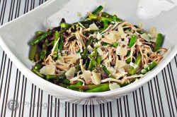 Roasted Asparagus and Enoki Salad