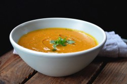 Roasted Carrot Cilantro and Coconut Soup Recipe