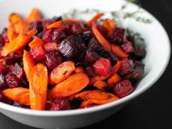 Roasted Carrots with Beets and Thyme Recipe