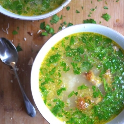 Roasted Garlic Chicken Soup Recipe