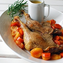 Roasted Goose with Apricots Recipe