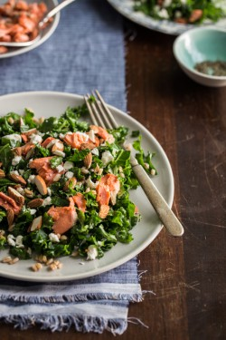 Roasted Salmon and Kale Salad