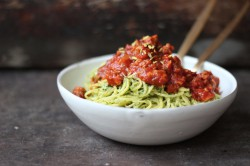 Rocket Pesto and Pork Ragu
