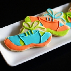 Running Shoe Cookies