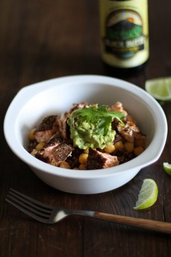 Salmon and Quinoa Burrito Bowls Recipe
