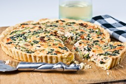 Salmon and Spinach Quiche Recipe