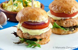 Salmon Sliders with Home-made Aioli