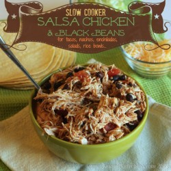 Salsa Chicken and Black Beans Slow Cooker Recipe