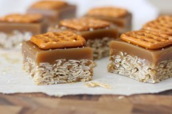 Salted Caramel Oat Bars