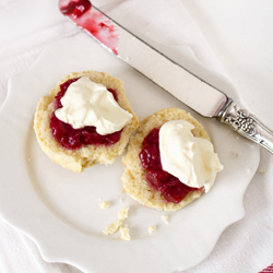 Scones with Rhubarb Gin Jam