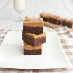 Sea Salt Peanut Butter Brownies