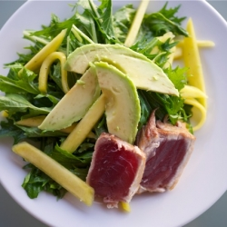 Seared Ahi, Mizuna, Mango Salad