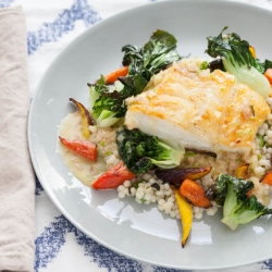Seared Cod with Kaffir Lime Butter Sauce Recipe