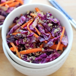 Sesame Carrot and Red Cabbage Stir Fry Recipe
