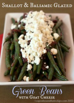 Shallot Balsamic Glazed Green Beans Recipe