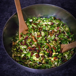 Shaved Brussels Sprout Salad with Maple Dijon Vinaigrette Recipe