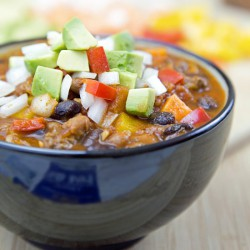 Skinny Sweet Potato and Bean Chili