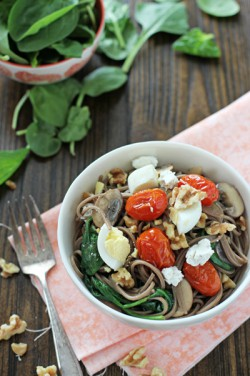 Soba noodles w/ roasted tomatoes