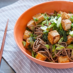 Soba Noodles with Tofu and Chinese Broccoli Recipe