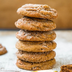 Soft Molasses Crinkle Cookies Recipe