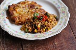 Spanish Rice with Black Beans and Corn Recipe