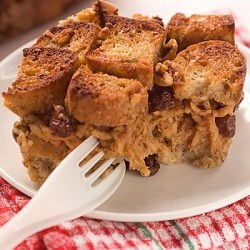 Spiced Apple Cinnamon Bread Pudding