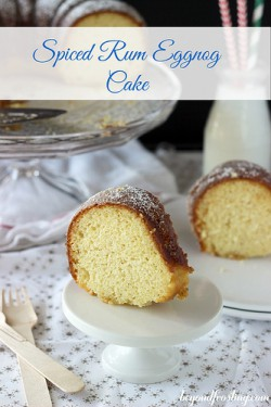 Spiced Rum Eggnog Cake Recipe