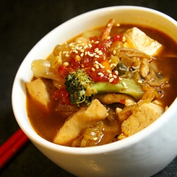 Spicy kimchee soup