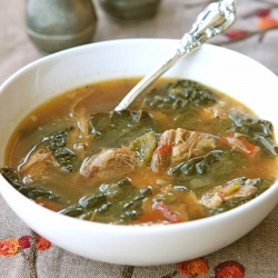 Spicy Pork Soup with Kale
