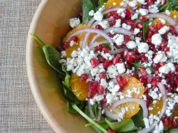 Spinach Orange and Pomegranate Salad with Citrus Vinaigrette Recipe