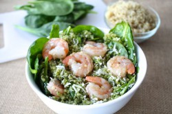Spinach Pesto Quinoa Bowl Recipe