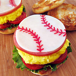 Sports Ball Breakfast Sandwich