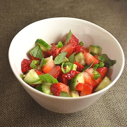 Strawberry-Cucumber-Lime Salsa