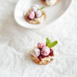 Sugared Cranberry and Brie Crackers Recipe