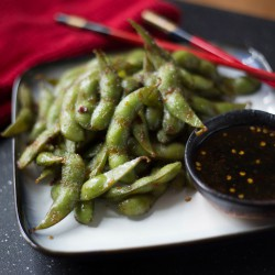 Sweet and Spicy Soy Glazed Edamame